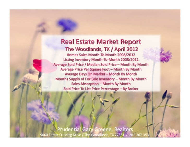 Home Sales Report for The Woodlands TX / May 2012 / Prudential Gary Greene, Realtors 281-367-3531
