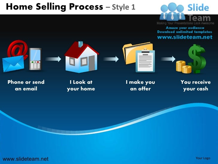 Home selling steps to sell process design 1 powerpoint ppt slides.