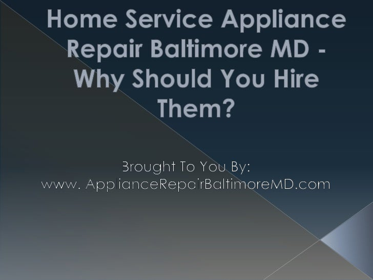Appliance repair is a very important servicethat everyone who has a property needs.We all have our own appliances, and we ...