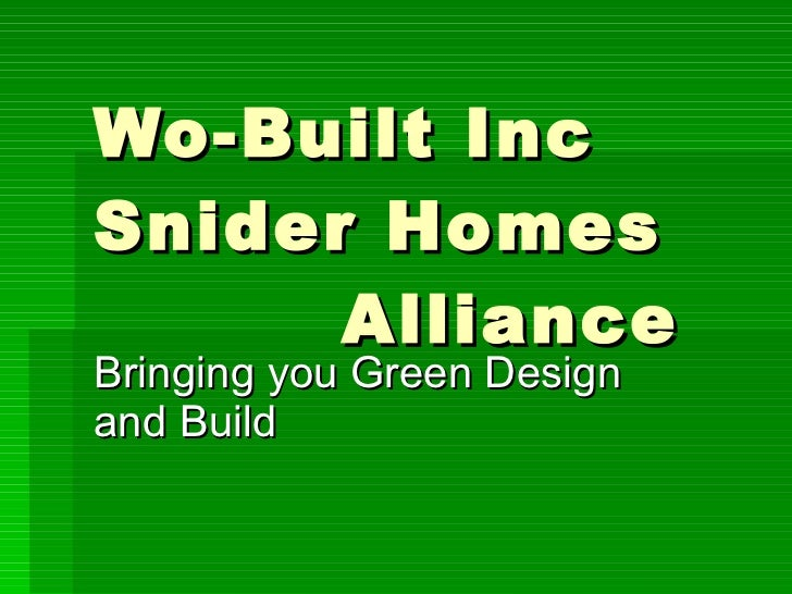 Green Design and Build