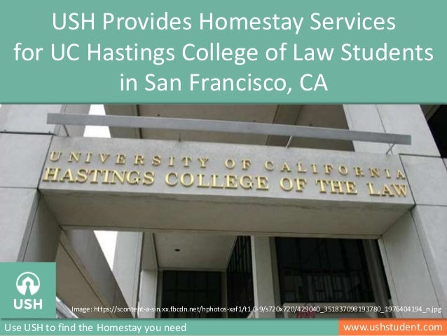 Homestay Services for UC Hastings College of Law Students in San Francisco, CA
