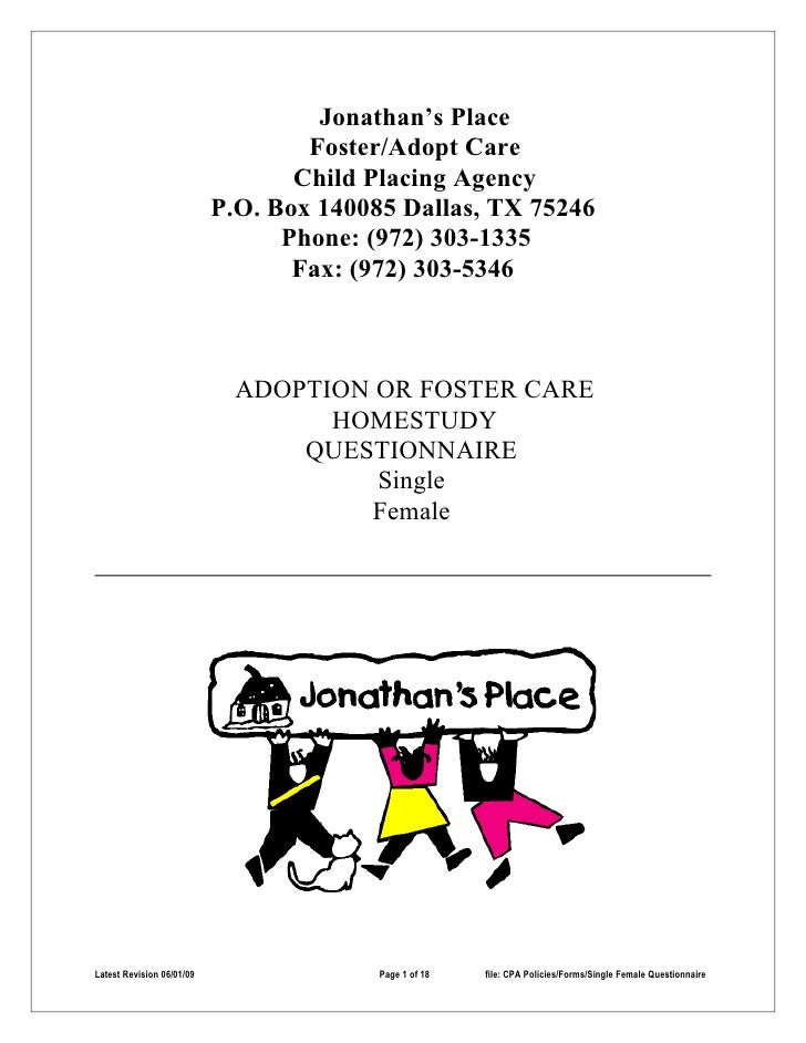 Jonathan's Place                                    Foster/Adopt Care                                   Child Placing Agen...