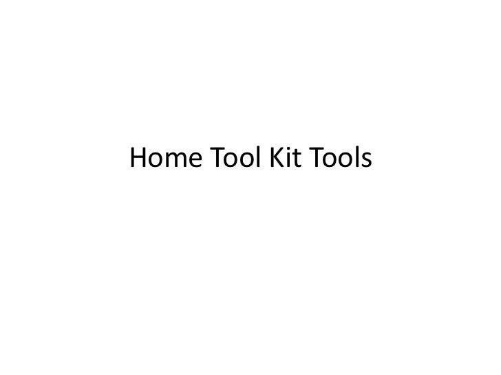 Home tool kit tools
