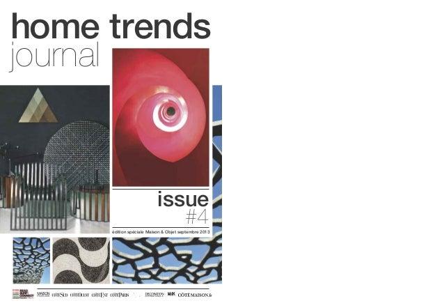 issue #4 home trends journal édition spéciale Maison & Objet septembre 2013