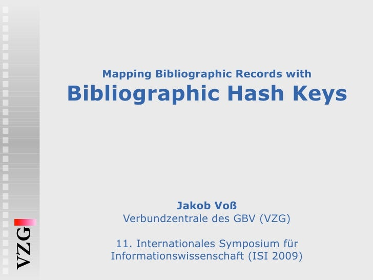 Mapping Bibliographic Records with Bibliographic Hash Keys
