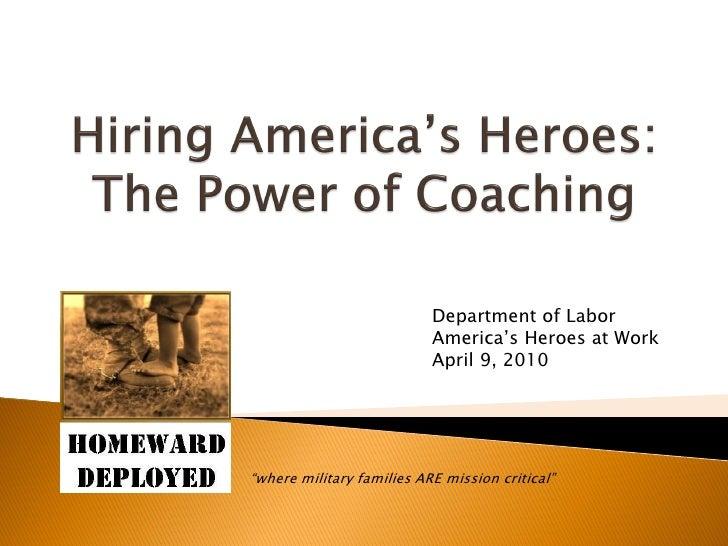 Homeward Deployed Internal Coach Training Program