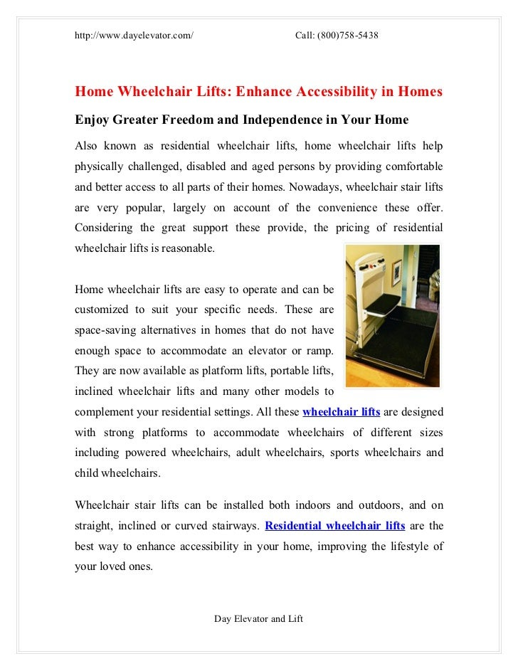 Home wheelchair lifts enhance accessibility in homes