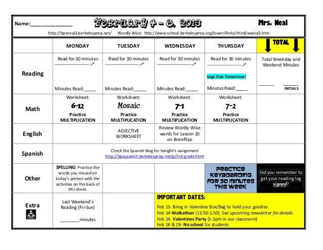 Homework February 4