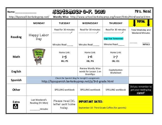 Homework, Sept 3rd