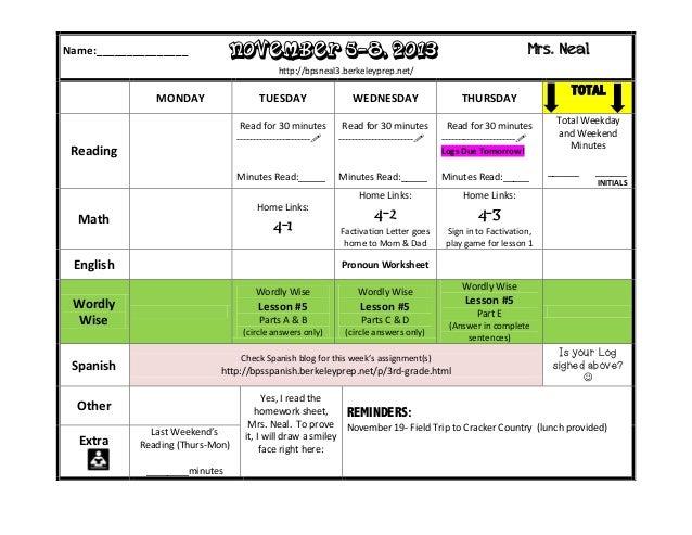 Homework, November 5