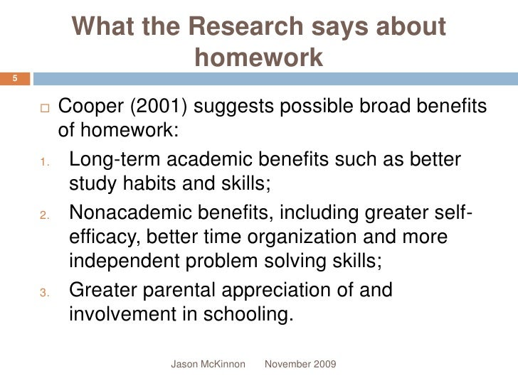 the value of homework for mathematical