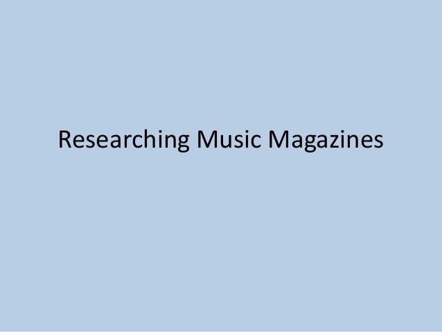 Researching Music Magazines