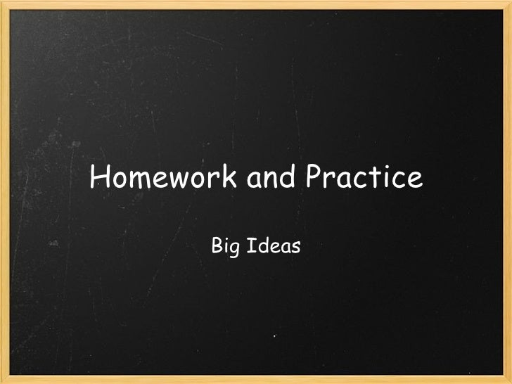 Homework and Practice Big Ideas