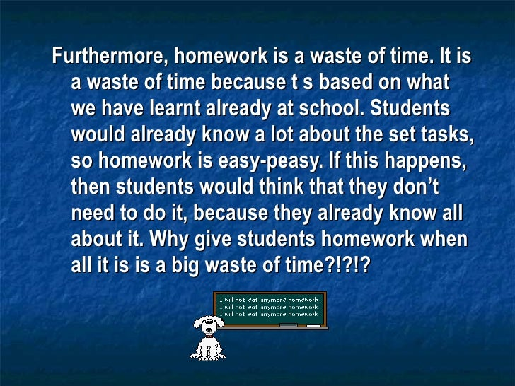 Debate on homework