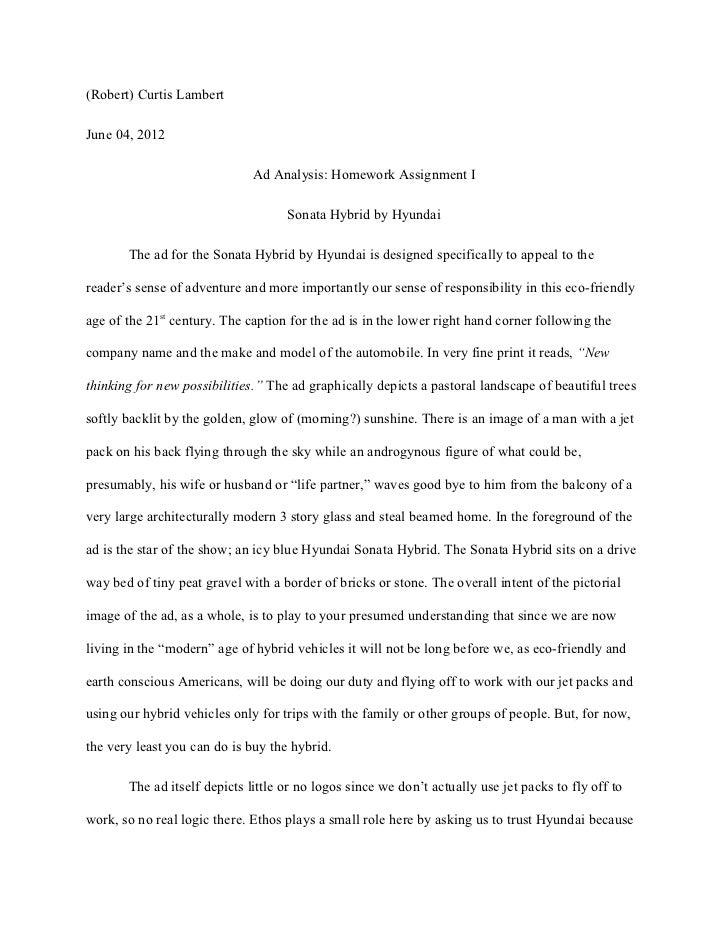 ad analysis essay twenty hueandi co ad analysis essay