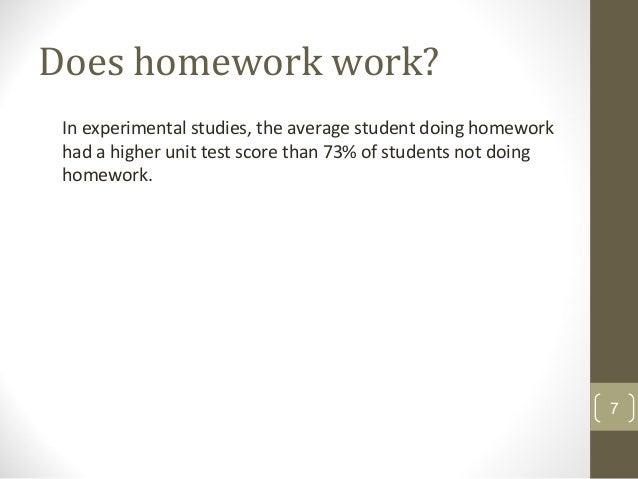 Does homework work