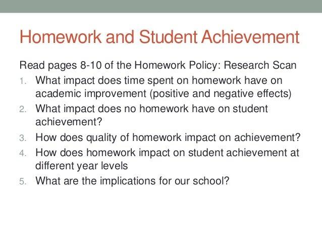 Homework research on