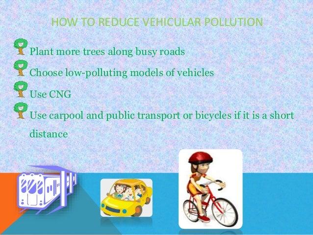 short essay on vehicular pollution