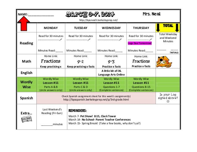 Homework March 3