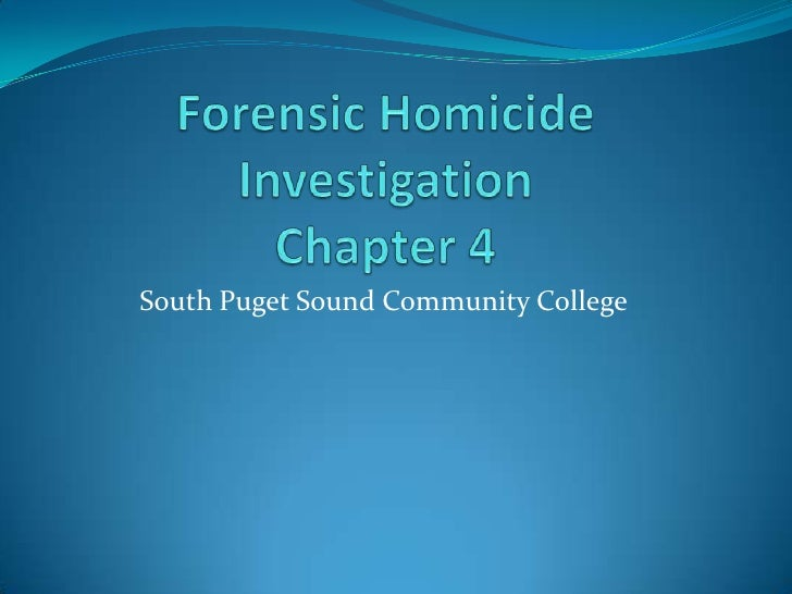 Homicide Chapter 4