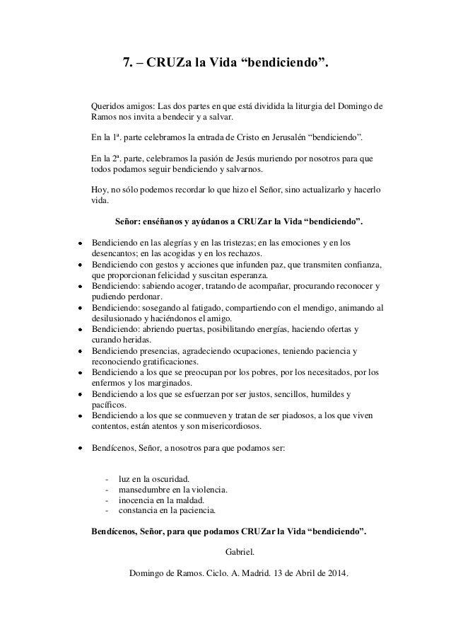 HOMILIA DEL DOMINGO DE RAMOS. CICLO A. DIA 13 DE ABRIL DEL 2014