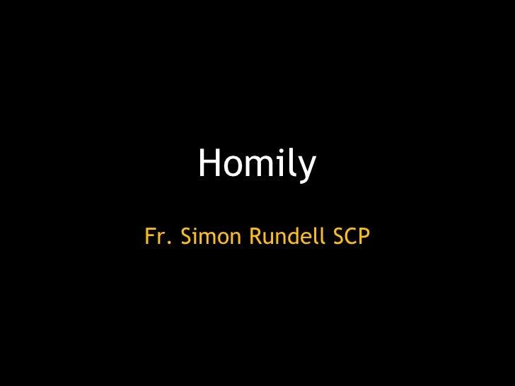 Homily For Corpus Christi 2009