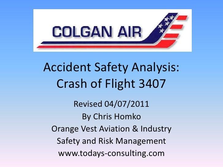 Homko Colgan Flight 3407  HFACS Safety Analysis