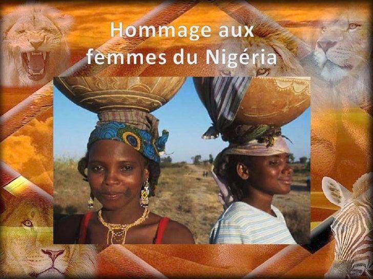 Hommage aux femmes du nigéria