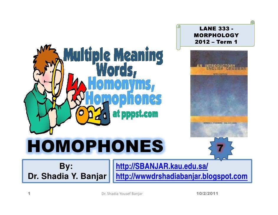 LANE 333 -                                               MORPHOLOGY                                               2012 – T...
