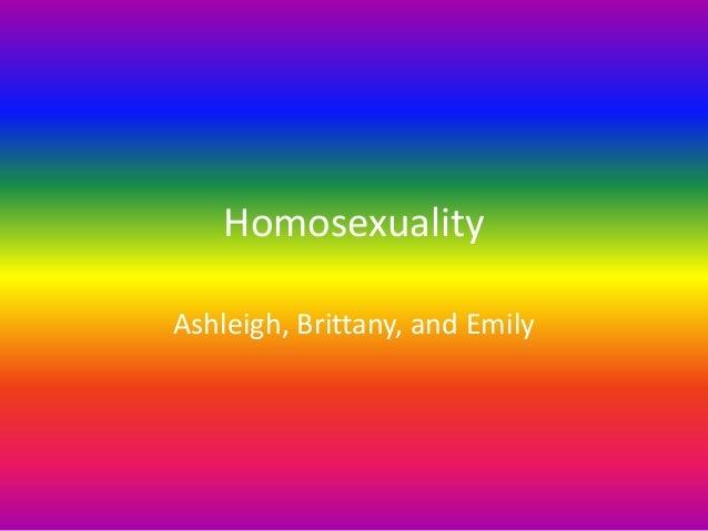 Homosexuality (1)