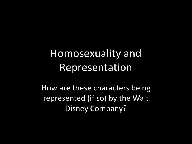 Homosexuality and Representation<br />How are these characters being represented (if so) by the Walt Disney Company?<br />