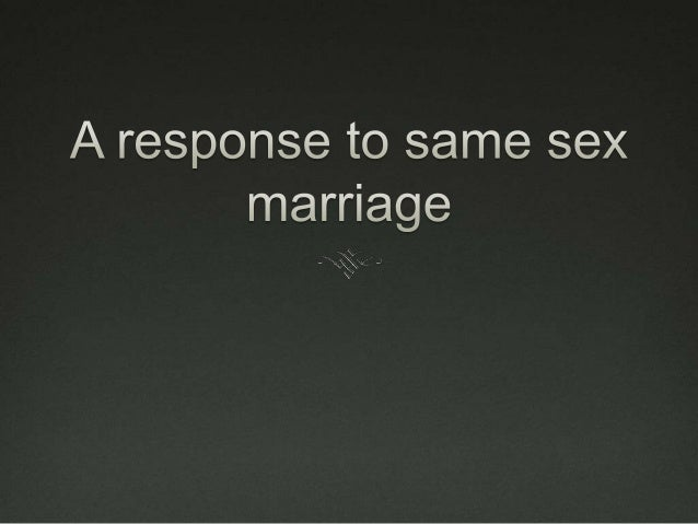 Some issues around homosexual marriage