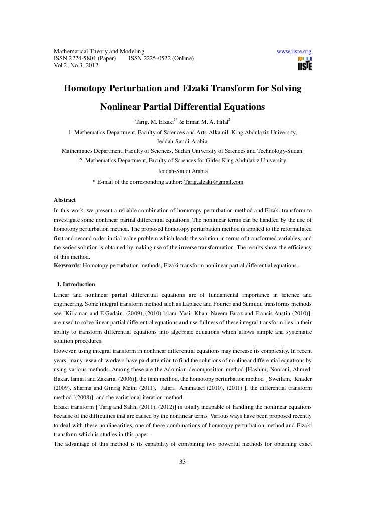 Homotopy perturbation and elzaki transform for solving nonlinear partial differential equations