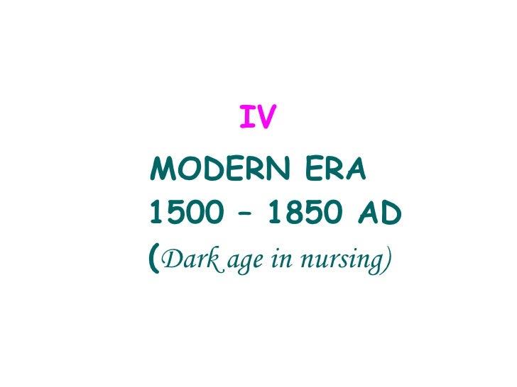 History of Nursing -  Modern Era