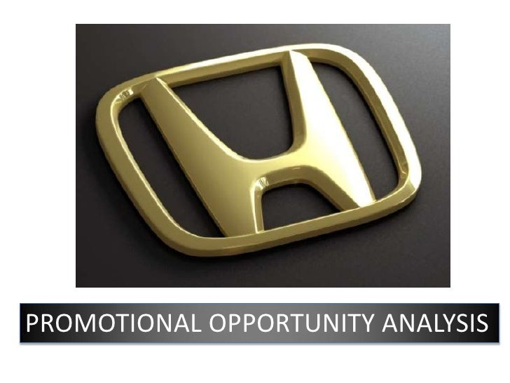 PROMOTIONAL OPPORTUNITY ANALYSIS<br />