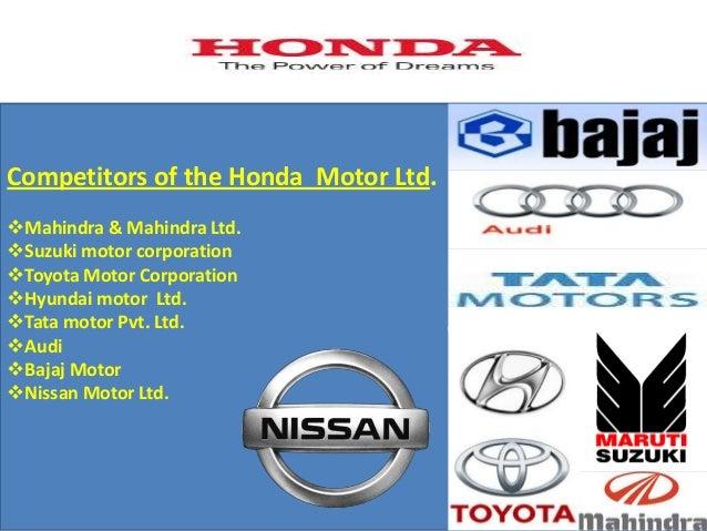 Honda for Toyota motor company profile
