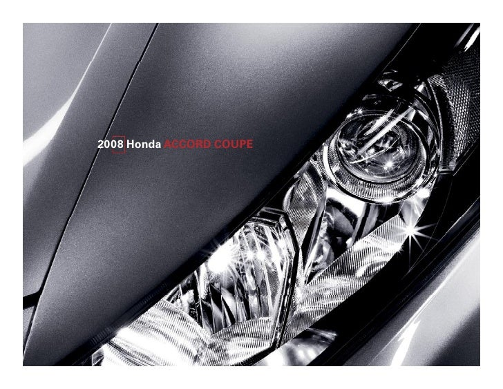 Herb Chambers Honda 2008 Accord Coupe Factsheet