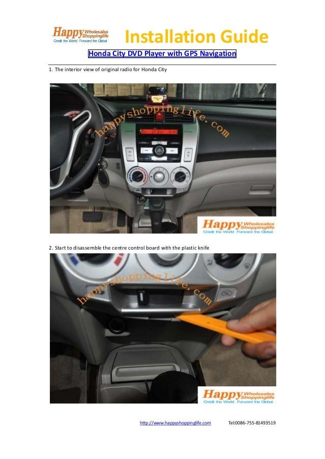 Honda city dvd player gps navigation installation guide