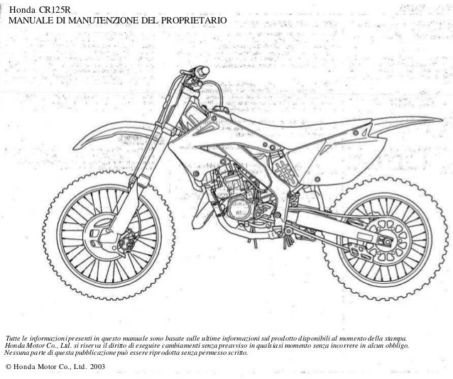 Honda Cr125 R Service Manual Ita