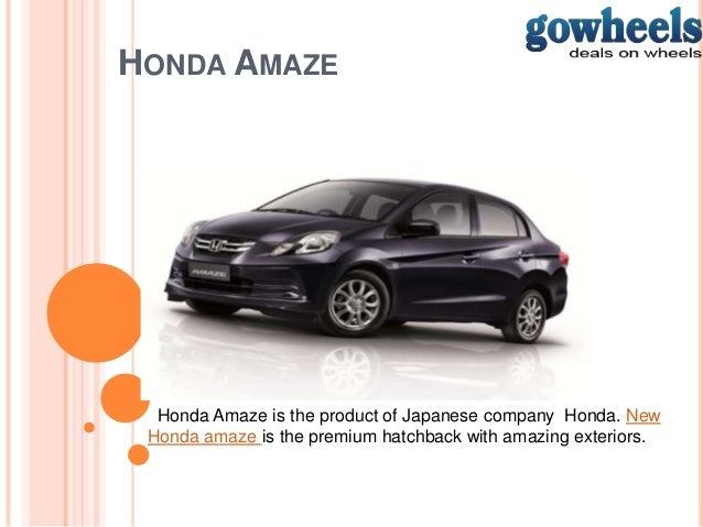 Honda amaze cars
