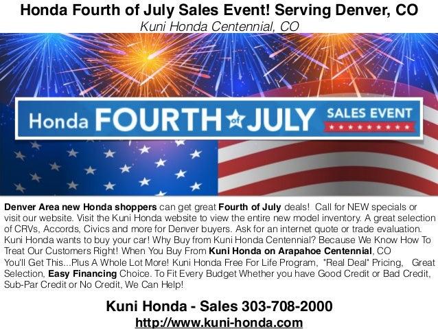 Honda Fourth Of July Sales Event L Serving Denver Co