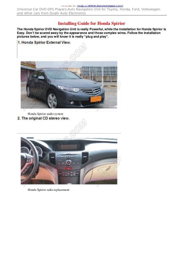 Honda Headrest Monitor installing guide