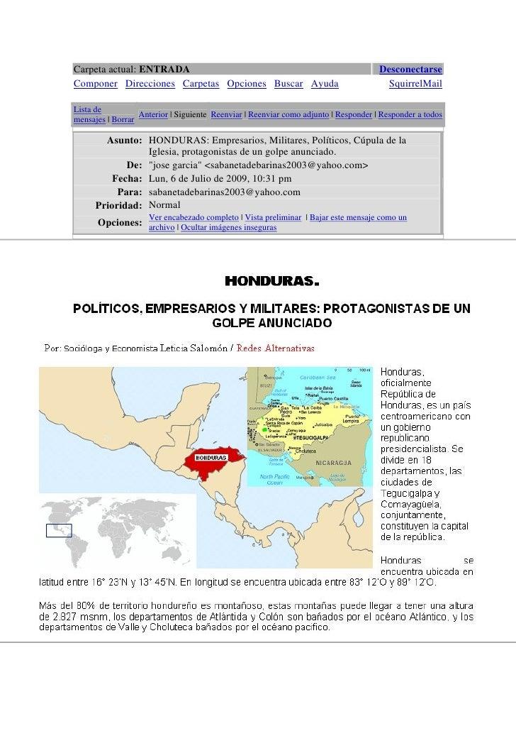 Carpeta actual: ENTRADA                                                              Desconectarse Componer Direcciones Ca...