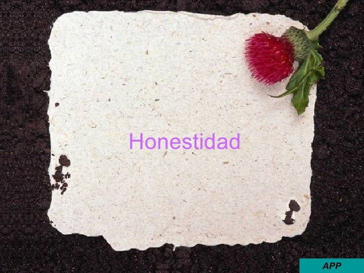 Honestidad APP