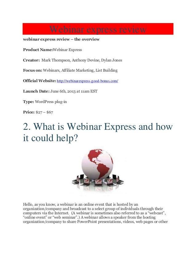Honest webinar express review  webinar wordpressplugin   huge bonus over $1200! check now!