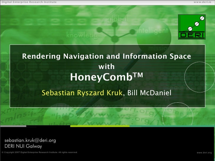 Rendering Navigation and Information Space  with  HoneyCombTM