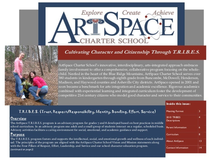 Cultivating Character and Citizenship Through T.R.I.B.E.S.                                      ArtSpace Charter School's ...