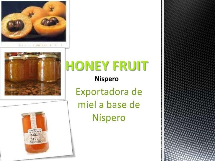 HONEY FRUIT Exportadora de miel a base de    Níspero