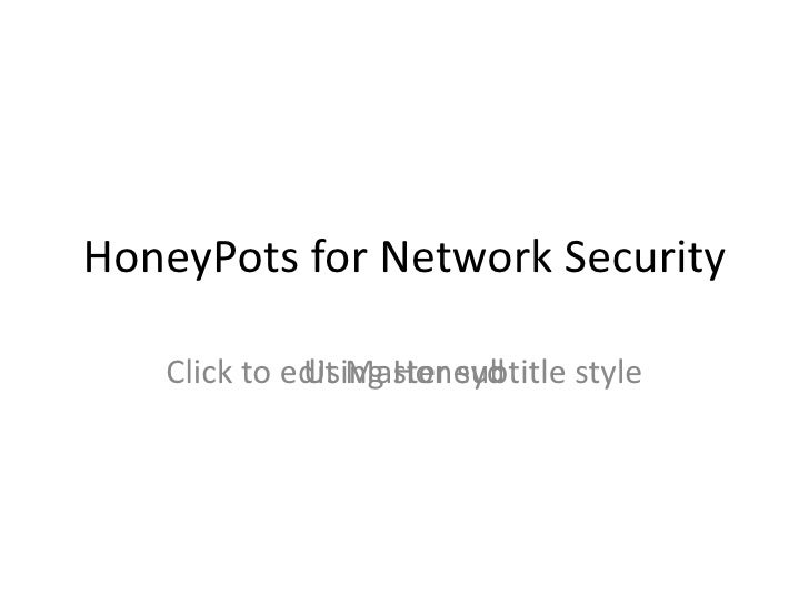 HoneyPots  for Network Security Using Honeyd