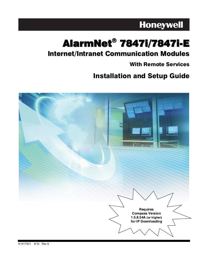 Honeywell 7847i-install-guide